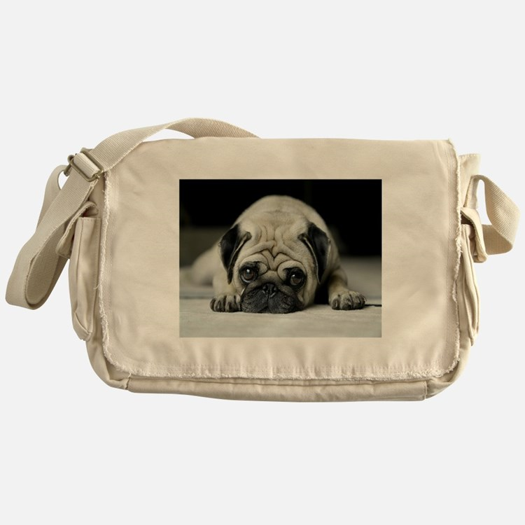 Cute Pug dog Messenger Bag
