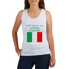 Italian Proverb Might Makes Right Women's Tank Top