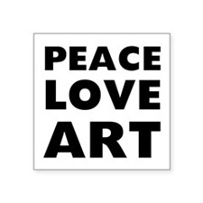 "Peace Art Square Sticker 3"" x 3"""