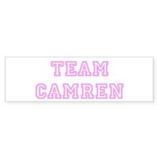 Pink team Camren Bumper Bumper Sticker