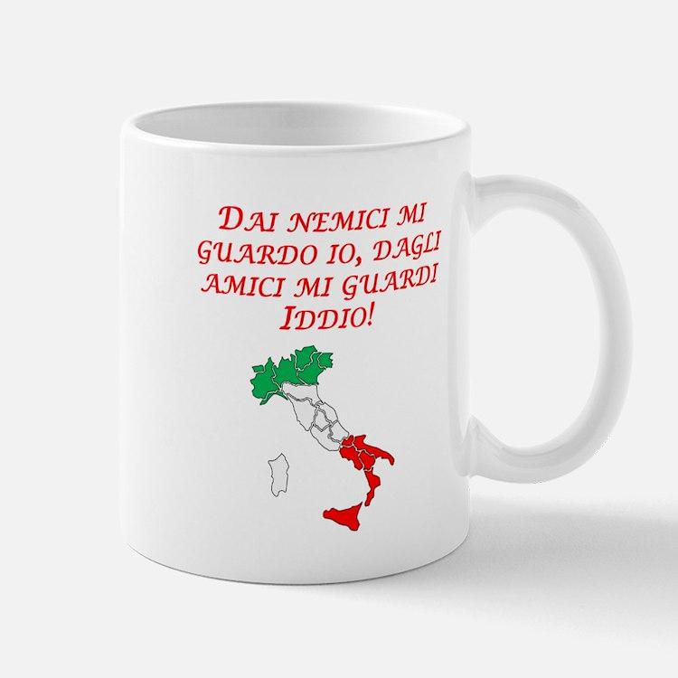 Italian Proverb Enemies Friends Mug