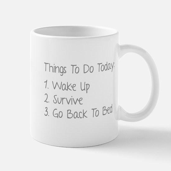 Things To Do Today Mug