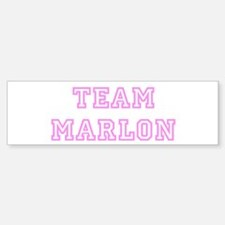 Pink team Marlon Bumper Bumper Bumper Sticker