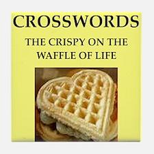 crosswords Tile Coaster