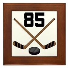 Hockey Player Number 85 Framed Tile