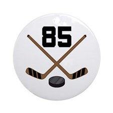 Hockey Player Number 85 Ornament (Round)
