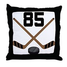 Hockey Player Number 85 Throw Pillow