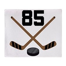 Hockey Player Number 85 Throw Blanket
