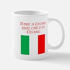 Italian Proverb Give Caesar Mug