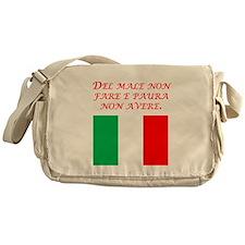 Italian Proverb No Evil No Fear Messenger Bag