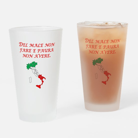 Italian Proverb No Evil No Fear Drinking Glass