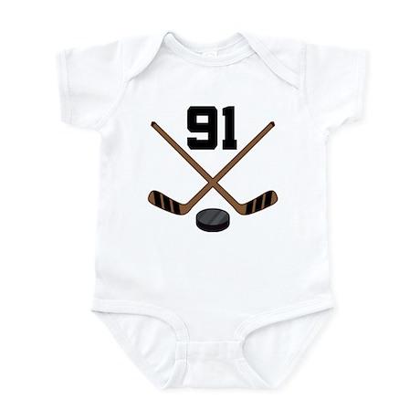 Hockey Player Number 91 Infant Bodysuit