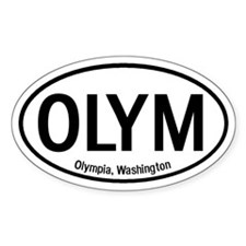Olympia, Washington Oval Decal