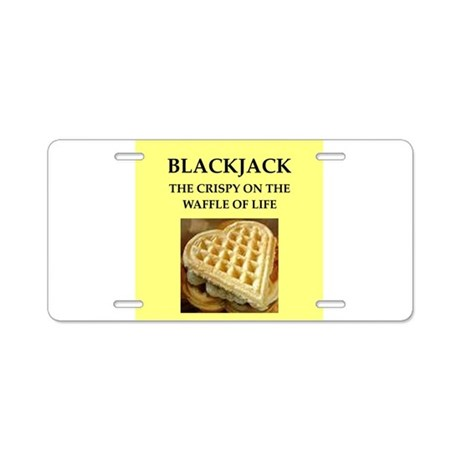 blackjack Aluminum License Plate