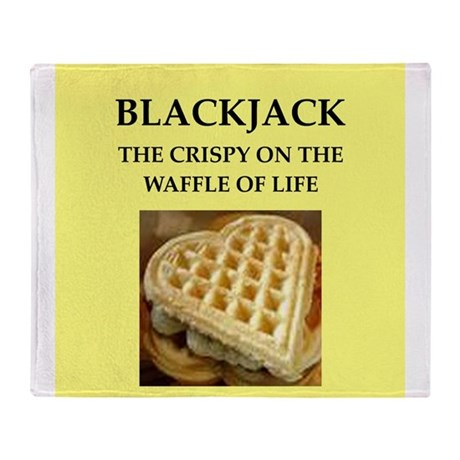 blackjack Throw Blanket
