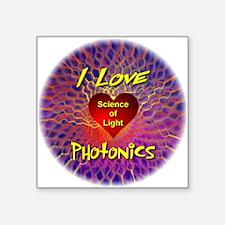 "I Love Photonics Square Sticker 3"" x 3"""