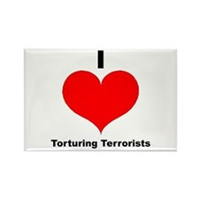 I Love Torturing Terrorists Rectangle Magnet