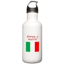 Italian Proverb It Moves Water Bottle