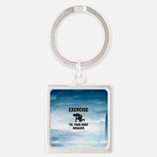 TOP Exercise Cross Train Square Keychain
