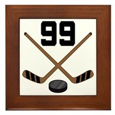 Hockey Player Number 99 Framed Tile