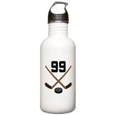 Hockey Player Number 99 Water Bottle