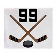 Hockey Player Number 99 Throw Blanket