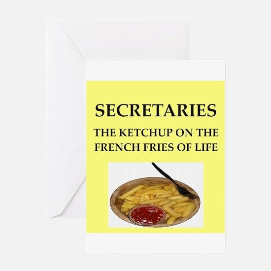 secretary Greeting Card