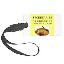 secretary Luggage Tag