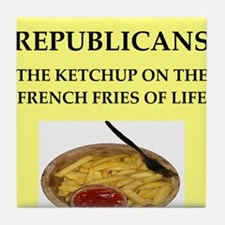 republicans Tile Coaster