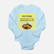POTTERS Long Sleeve Infant Bodysuit