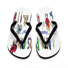 April Fools Day Picnic Flip Flops