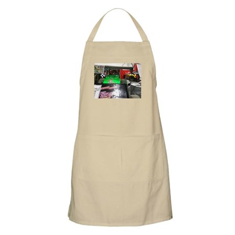 Green Racing Go Car Apron