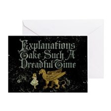 Alice Gryphon Explanations Greeting Card
