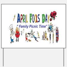 April Fools Day Picnic Yard Sign