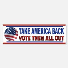 VOTE THEM OUT Sticker (Bumper)