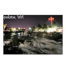 Spokane Falls 1 Postcards (Package of 8)
