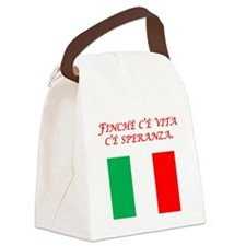 Italian Proverb Hope Canvas Lunch Bag