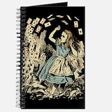 Vintage Alice Flying Cards Dark Journal