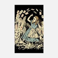 Vintage Alice Flying Cards Dark Decal