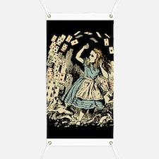 Vintage Alice Flying Cards Dark Banner