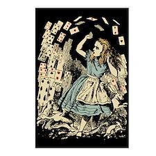 Vintage Alice Flying Cards Dark Postcards (Package