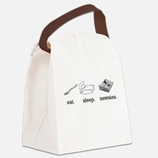 eat-white.png Canvas Lunch Bag