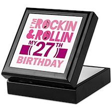 27th Birthday rock and roll Keepsake Box