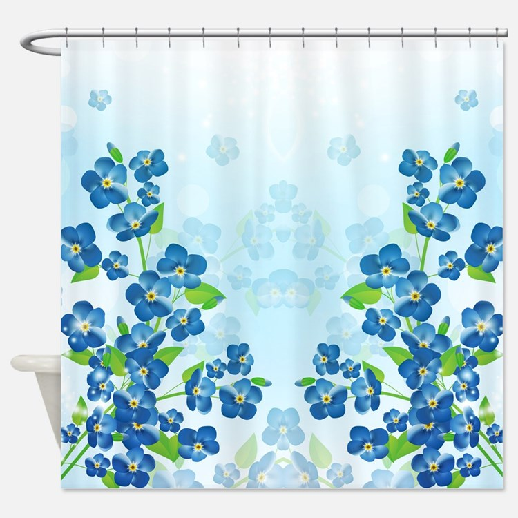 Forget Me Not Flowers Shower Curtain