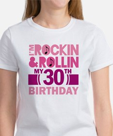 30th Birthday rock and roll Tee