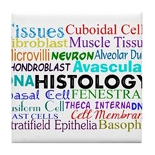 histology terminology.PNG Tile Coaster