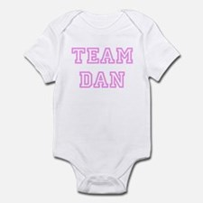 Pink team Dan Infant Bodysuit