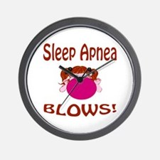 Sleep Apnea Blows! Wall Clock