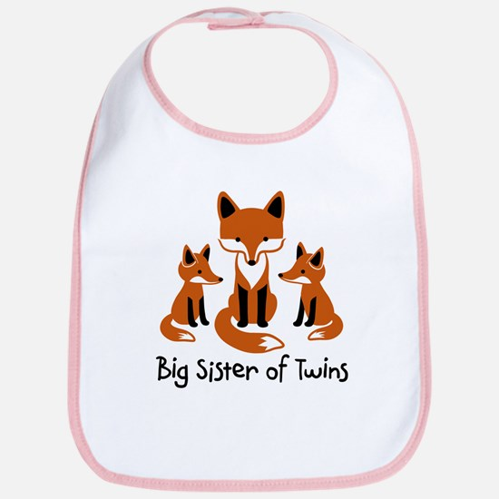 Big Sister of Twins - Mod Fox Bib