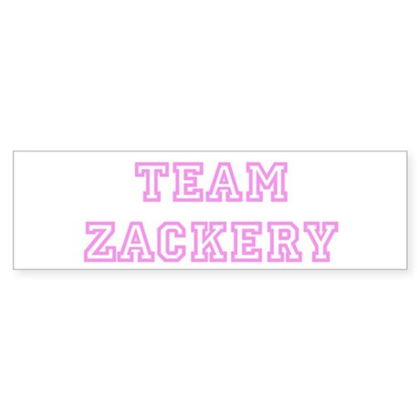 Pink team Zackery Bumper Sticker